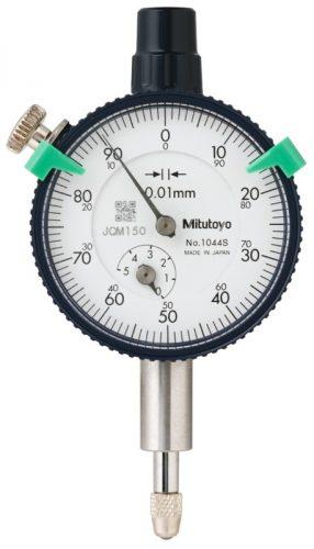 Mitutoyo Analóg mérőóra sík hátlappal, 5/0,01mm  EN ISO 463 1044SB