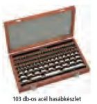 Mitutoyo Acél mérőhasáb készlet (metrikus) Kalibrálási bizonyítvánnyal 516-598-60