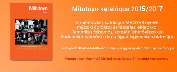 Mitutoyo katalógus 2015/2017 H-20001