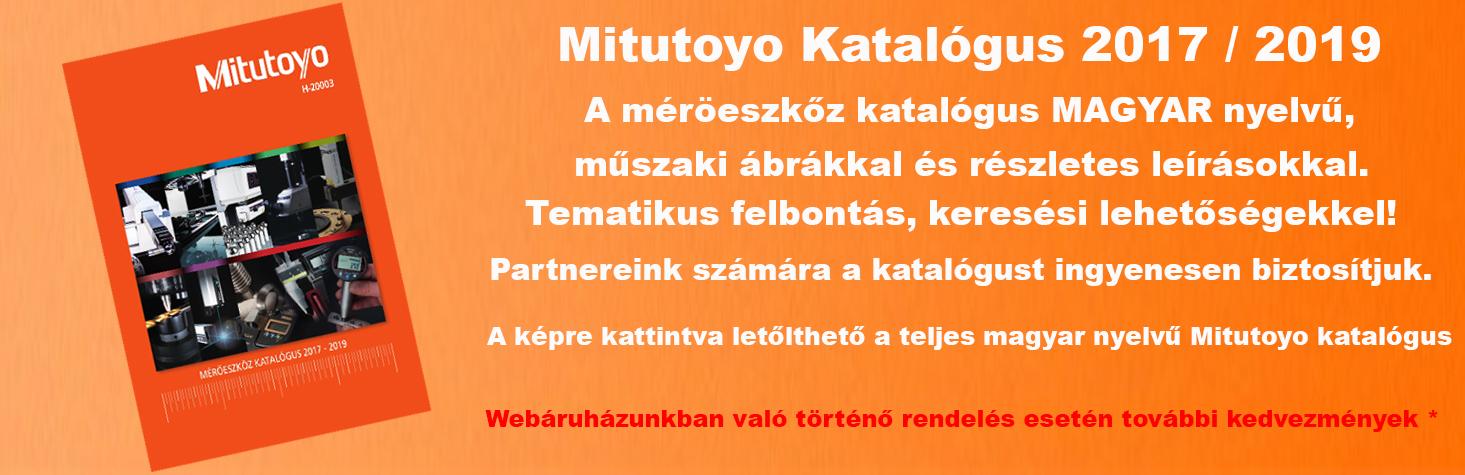 Mitutoyo katalógus 2017/19 H-20003